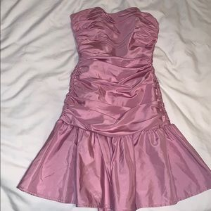 Pink Betsey Johnson Ruched Cocktail Dress